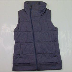 The North Face Women M Purple Insulated Vest Jacket Lined Outdoor Side Zip